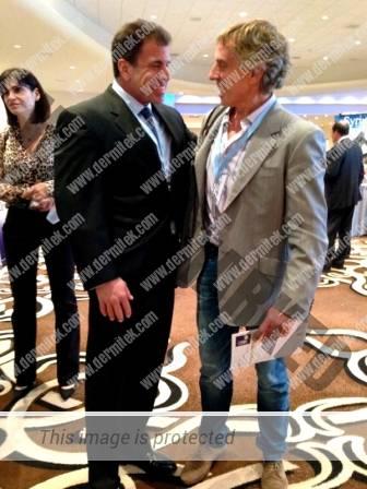 El Dr. Azpiazu con el Dr. Jose Almeida, organizador del Congreso y director del Miami Vein Center