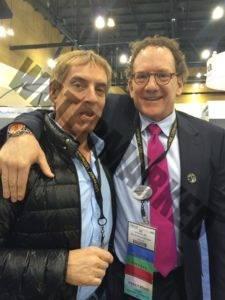 Dr. Eric Bernstein y el Dr. Azpiazu. Clínica Dermitek, Bilbao
