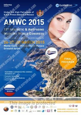 13th AMWC 2015- 13th Aesthetic & Anti-Aging Medicine World Congress