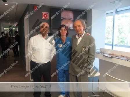 el Dr. Jose Serres  de Sevilla- la Dra. Nerea Landa- el Dr. Konstandinos Siomos