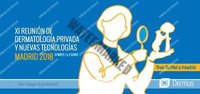 Nerea Landa, socia y dermatóloga en Dermitek, acude a la Reunión de Dermatología en Madrid.