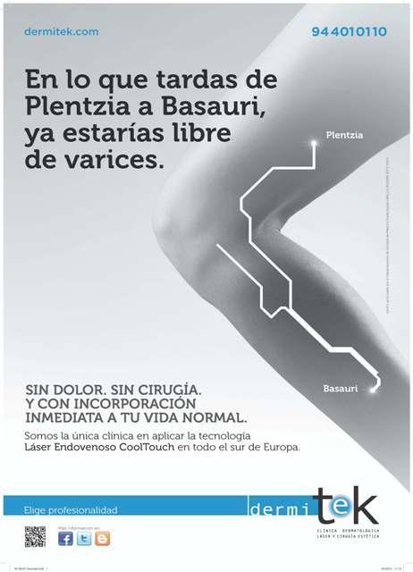 cartel dermitek Varices sin operación