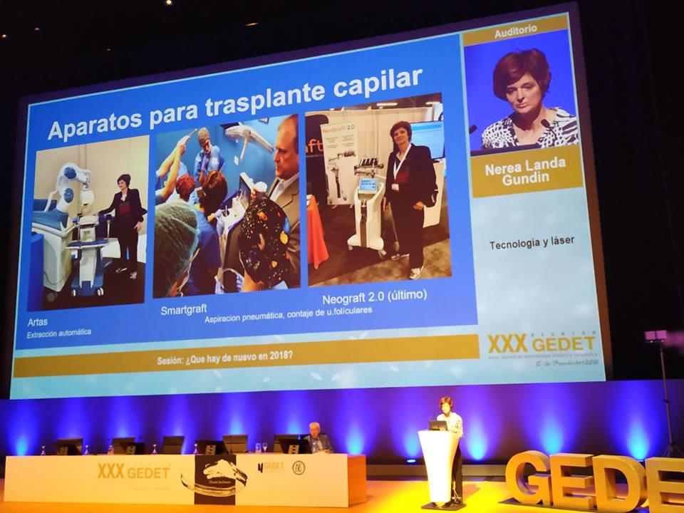 presentación en el GEDET sobre transplante capilar