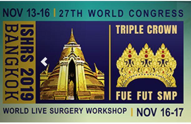 27º Congreso Mundial de la ISHRS de Trasplante Capilar. Bangkok, Tailandia.